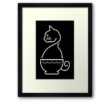 A Cat of Coffee Framed Print