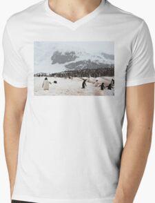 "Gentoo Penguins ~ ""Penguinville, Curville Island, Antarctica"" Mens V-Neck T-Shirt"