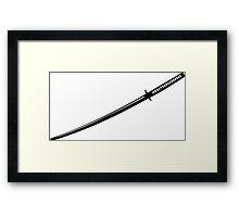 Japanese Katana Sword Framed Print