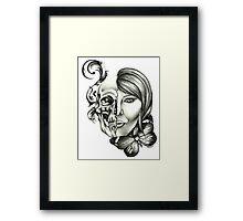 tattoo stencil by benocsart Framed Print