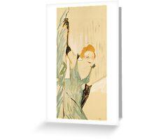 Henri de Toulouse-Lautrec, (), YVETTE GUILBERT Greeting Card