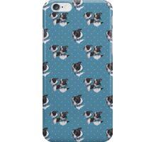 Boston Blues - Fabric design (Boston Terrier) iPhone Case/Skin