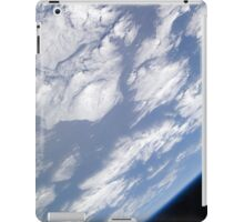 A blue and white part of Earth and the blackness of space viewed from the Earth-orbiting space shuttle Atlantis. iPad Case/Skin