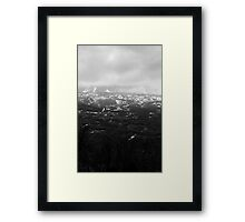 In the clouds Framed Print