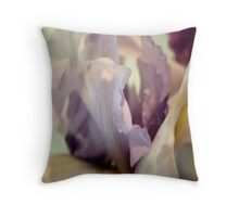 Pale Lilac Iris Abstract Throw Pillow