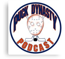 Puck Dynasty Podcast - Orange and Blue Canvas Print
