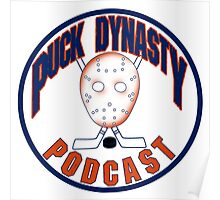 Puck Dynasty Podcast - Orange and Blue Poster