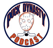 Puck Dynasty Podcast - Orange and Blue Photographic Print