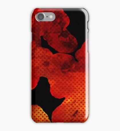 Red Ink Blot iPhone Case/Skin