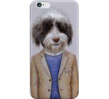Polish Lowland Sheepdog portrait iPhone Case/Skin