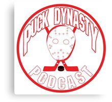 Puck Dynasty Podcast - Red & White Canvas Print
