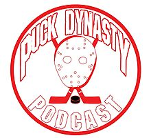 Puck Dynasty Podcast - Red & White Photographic Print