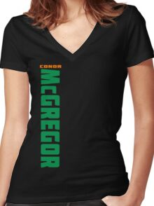 Conor McGregor Green (check artist notes for limited edition link)  Women's Fitted V-Neck T-Shirt