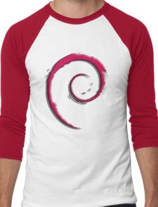 Debian Logo Men's Baseball ¾ T-Shirt