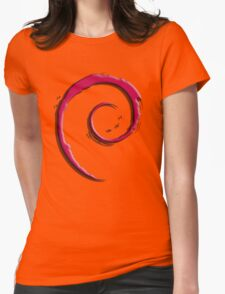 Debian Logo Womens Fitted T-Shirt