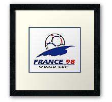 World cup 98 logo Framed Print