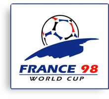World cup 98 logo Canvas Print