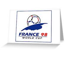 World cup 98 logo Greeting Card