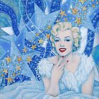Marylin Monroe,  Old Hollywood, fine art, portrait, blue shades by clipsocallipso