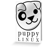 puppy LINUX Greeting Card