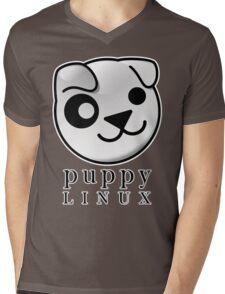 puppy LINUX Mens V-Neck T-Shirt