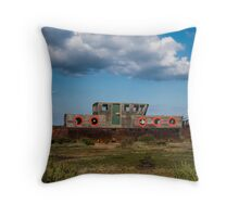 Five Red Portholes Throw Pillow