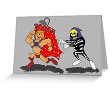 Skeleton Chases Shower Greeting Card