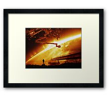 Red Sun Chronicle Framed Print