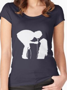 Robbers Silhouette (white) Women's Fitted Scoop T-Shirt