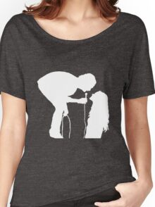 Robbers Silhouette (white) Women's Relaxed Fit T-Shirt