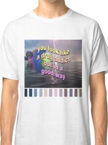 Lightning text Vaporwave Aesthetics Classic T-Shirt