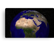 Global view of Earth over North Africa, Europe, the Middle East, and India. Canvas Print
