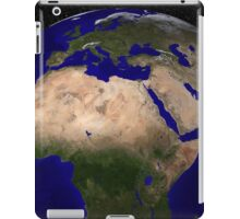 Global view of Earth over North Africa, Europe, the Middle East, and India. iPad Case/Skin