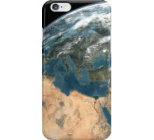 Global view of earth over Europe, Middle East, and northern Africa. iPhone Case/Skin