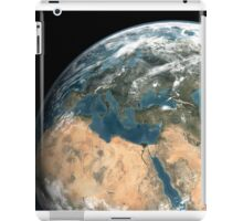 Global view of earth over Europe, Middle East, and northern Africa. iPad Case/Skin