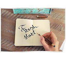 Motivational concept with handwritten text FRESH START Poster
