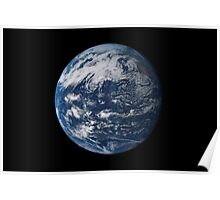 Full Earth centered over the Pacific Ocean. Poster