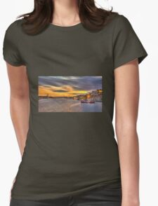 Valletta Grand Harbour Sunset  Womens Fitted T-Shirt