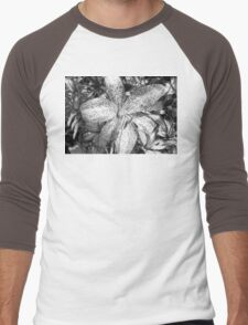 Lily in Black and White Men's Baseball ¾ T-Shirt