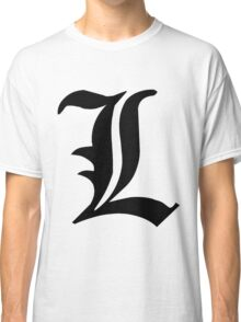 Death Note L symbol Classic T-Shirt