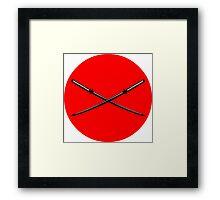 Crossed Japanese Katana Framed Print