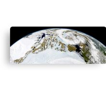 Partial view of Earth showing northern Canada and northern Greenland.  Canvas Print