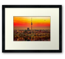 Berlin at sunset Framed Print