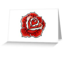 OldSchool Rose Greeting Card