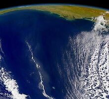 Oblique Bermuda's-eye-view of the United States east coast.  by StocktrekImages