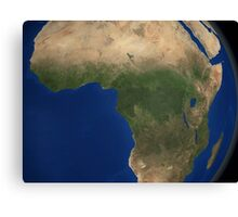 Earth showing landcover over Africa. Canvas Print