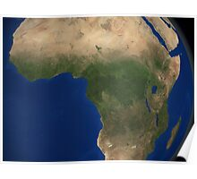 Earth showing landcover over Africa. Poster