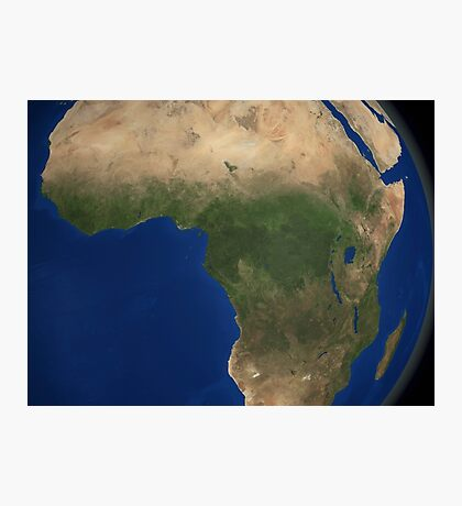 Earth showing landcover over Africa. Photographic Print