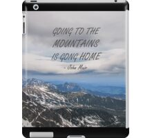 Going to the mountains 7 iPad Case/Skin