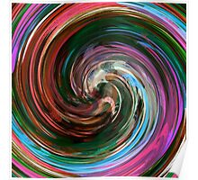 Modern Colorful Swirl Abstract Art #3 Poster